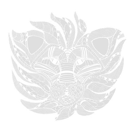 voracious: decorate lion design on white background Stock Photo