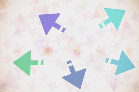 multidirectional: multi-directional arrows on white background