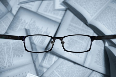 myopic: group of books with lenses