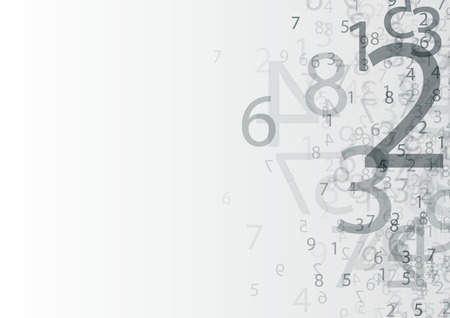 numbers abstract: abstract background with transparent group of numbers