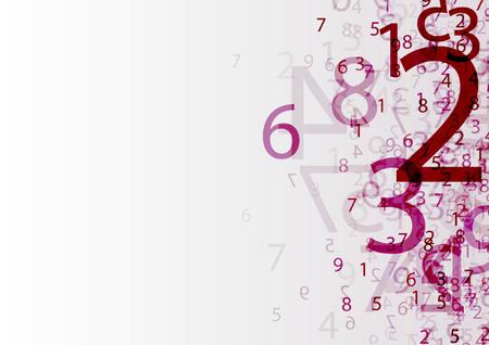 abstrakcyjne tło z przezroczystą grupą liczb