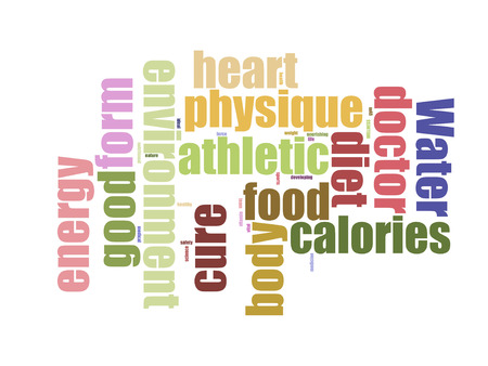 word cloud, fitness, sport, health concept Stock Photo