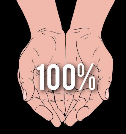 総: hands with message: 100%