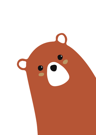 tender brown bear for baby room