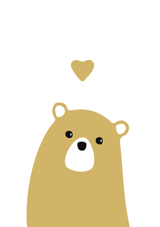 tender yellow bear for baby room