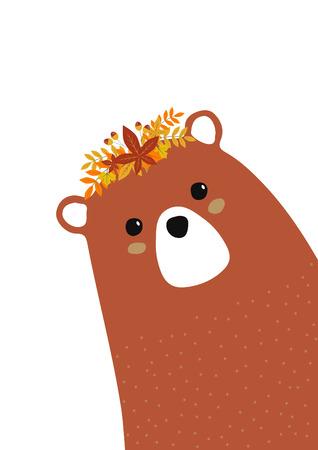 tender brown bear girl for baby room