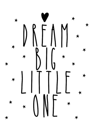 dream big little one, decoration for nursery Stock Photo