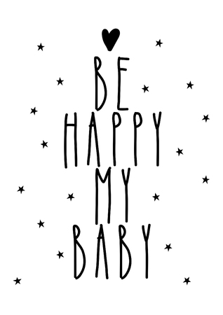 Be happy my baby, decoration for nursery