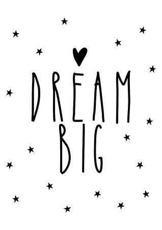 dream big, decoration for nursery