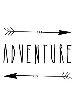 adventure quote, decoration for nursery Stock Photo