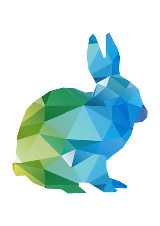 low poly illustration bunny Banco de Imagens