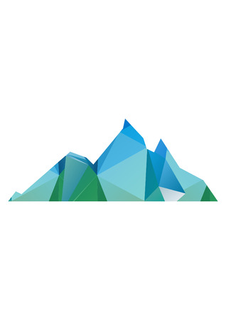 low poly illustration mountain Imagens