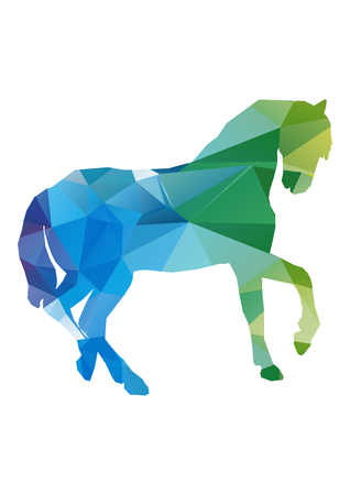 low poly illustration horse Imagens