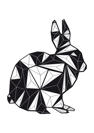 low poly illustration rabbit