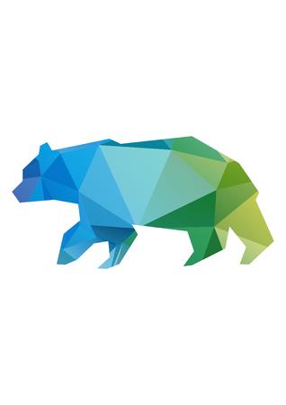 low poly illustration bear