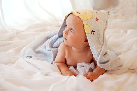 Baby with Towel  Stock Photo - 5763571