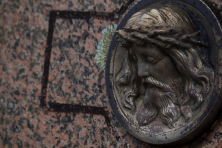 Detais of a grave in the cemitery  photo