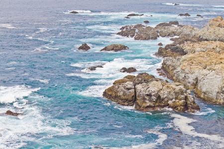 ocean state: Ocean and rocks  at Garrapata State Park, Carmel, California