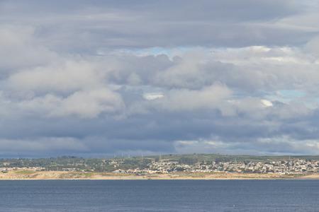 monterey: Beach and city view of Monterey, California