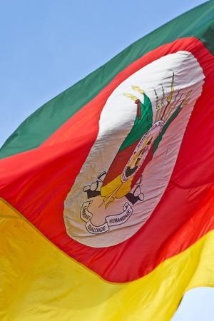 grande: Details of Rio Grande do Sul flag Stock Photo