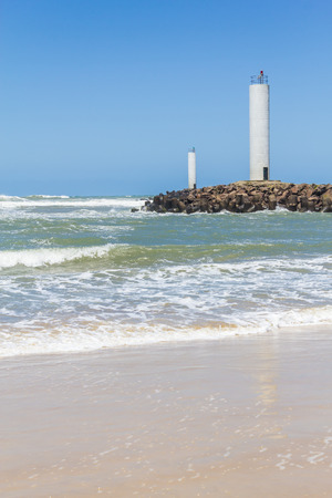 do: Lighthouse to access Mampituba river at Torres beach