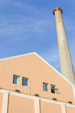 alegre: Chimney of a famous old gas power plant in Porto Alegre Stock Photo