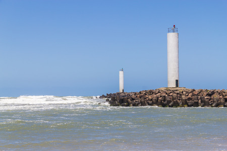 Lighthouse to access Mampituba river at Torres beach