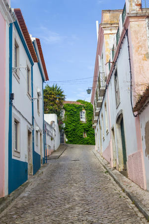 alentejo: Some houses in Santiago do Cacem dowtown, Alentejo, Portugal Stock Photo
