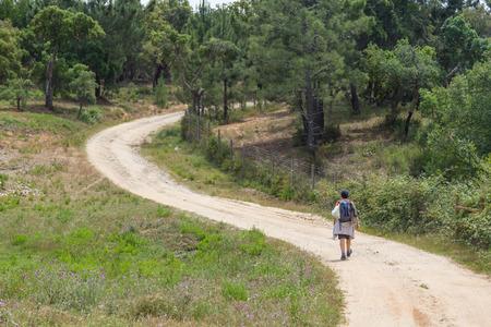 alentejo: Girl hiking in Santiago do Cacem, Alentejo, Portugal