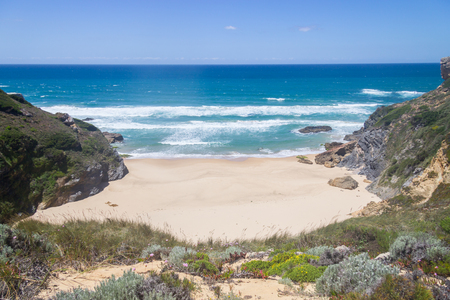 Wild beach,  Vila Nova de Milfontes, Alentejo, Portugal Stock Photo