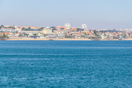 Beach, sand and houses in Cascais, Portugal