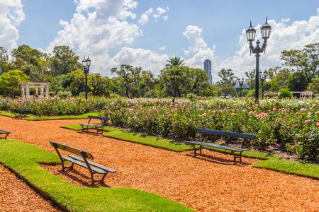 El Rosedal de Palerme, parc Bosques de Palermo, Buenos Aires, Argentine Banque d'images - 92949848