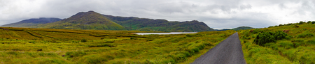 Mountain Landscape in Achill, Great Western Greenway trail, Ireland Stock Photo