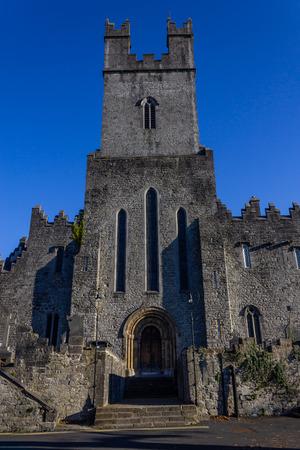 Front of Limerick stone church, Limerick, Ireland