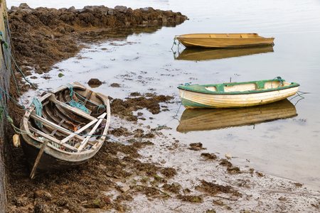 Boats in a Pier in Oranmore, Galway bay, Galway, Ireland