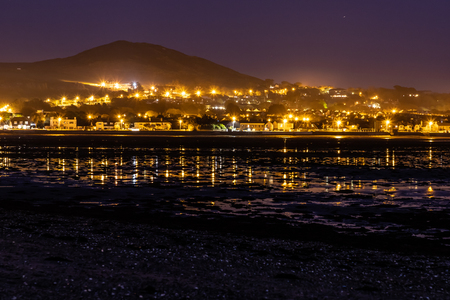 Night lights of Howth Peninsula, Dublin, Ireland