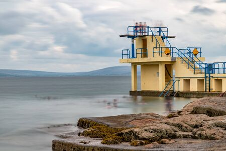 Diving board in Black Rock beach, Galway, Ireland