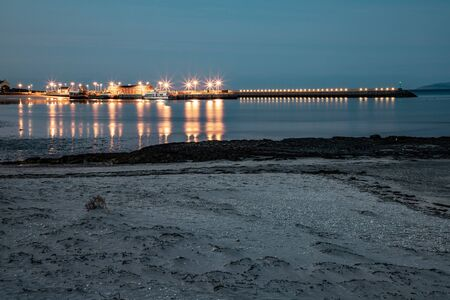 Night shoot with pier and beach in Inishmore, Aran Islands, Ireland