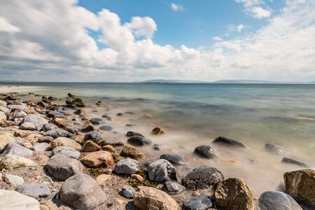 Rocks in Silverstrand beach, Galway, Ireland