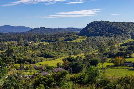 Forest, mountains and farms in Santa Cruz do Sul, Rio Grande do Sul, Brazil Banco de Imagens