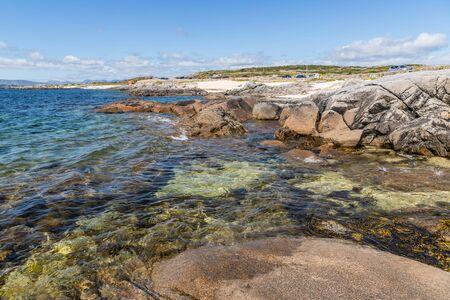 Sunny day in Coral beach in Carraroe, Conemara, Galway, Ireland Banco de Imagens