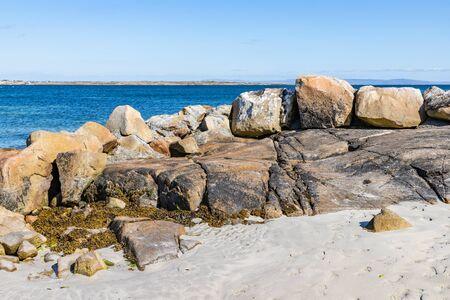 Sunny day in beach in Carraroe, Conemara, Galway, Ireland