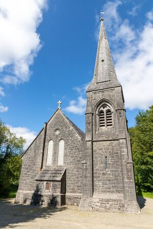 Tower of the Cong Church, Cong, Mayo, Ireland Фото со стока