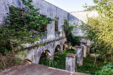 Ruins in Ilha das Pedras Brancas Island, Rio Grande do Sul, Brazil