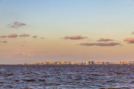 Guaiba lake with Porto Alegre in background, Rio Grande do Sul, Brazil