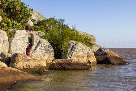 Ilha das Pedras Brancas Island and Guaiba lake, Rio Grande do Sul, Brazil
