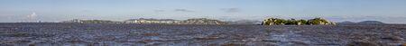 Panorama of Ilha das Pedras Brancas Island and Guaiba lake, Rio Grande do Sul, Brazil