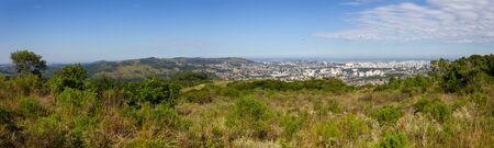 Panorama of Porto Alegre city from Morro Santana mountain, Rio Grande do Sul, Brazil