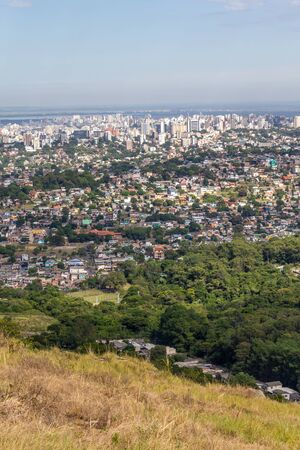 Porto Alegre city from Morro Santana mountain, Rio Grande do Sul, Brazil