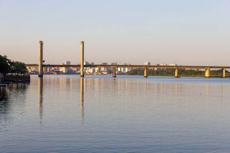 Bridge over Guaiba river in Porto Alegre, Rio Grande do Sul, Brazil